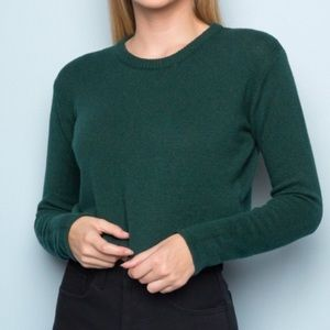 Brandy Melville hunter green cropped sweater